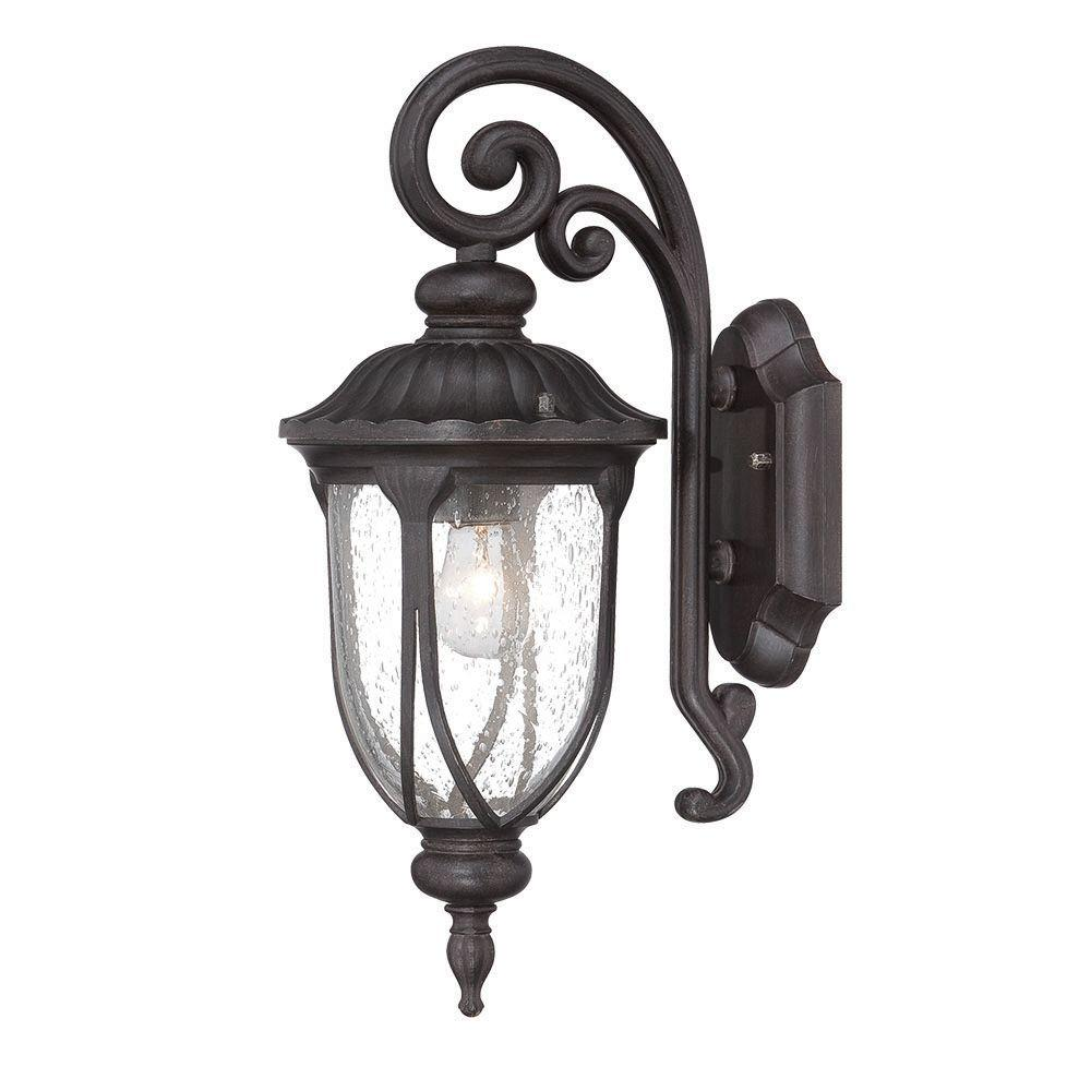 Acclaim Lighting Laurens Collection 1 Light Black Coral Outdoor Wall
