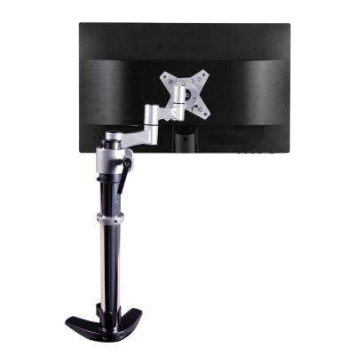 3-Way Articulating Single Monitor Desk Mount for 13 in. - 27 in. Flat Panel Monitors, Silver