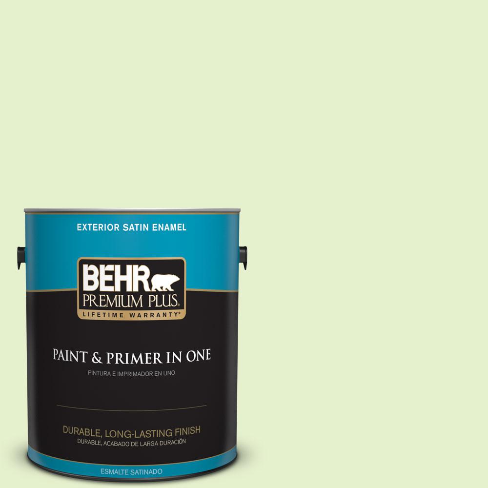 BEHR Premium Plus 1-gal. #420C-2 Water Sprout Satin Enamel Exterior Paint