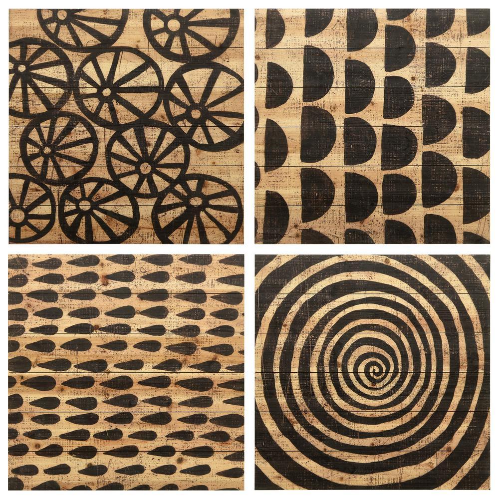 """Stone IV, V, VI and VIII"" Arte de Legno Digital Print on Solid Wood Wall Art"
