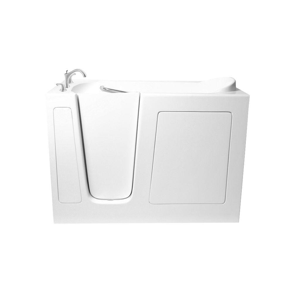 Ariel 4.25 ft. Walk-In Whirlpool and Air Bath Tub in White-EZWT-2651 ...
