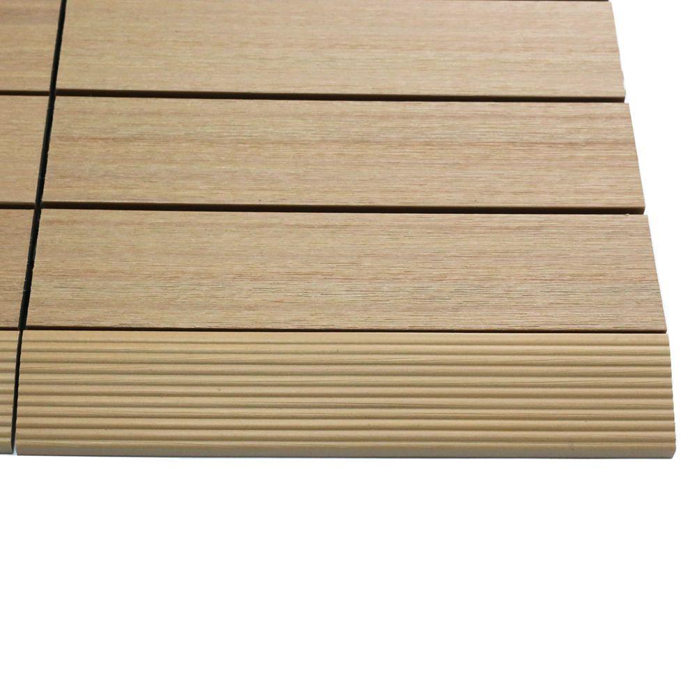 Lighting Basement Washroom Stairs: NewTechWood 1/6 Ft. X 1 Ft. Quick Deck Composite Deck Tile