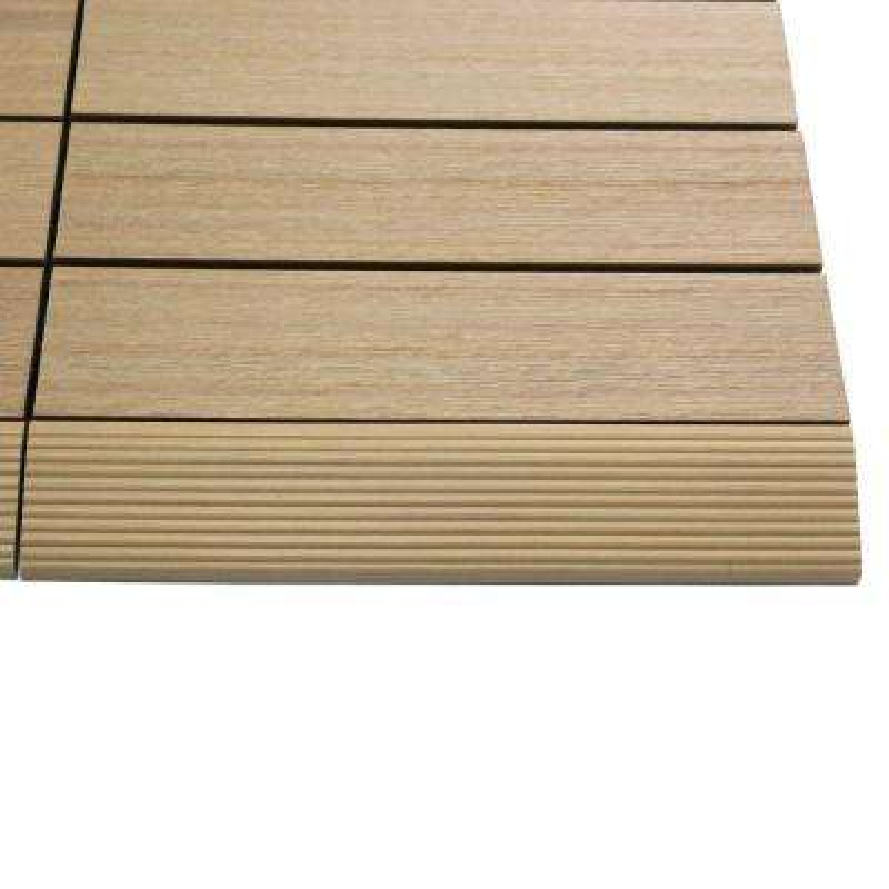 1/6 ft. x 1 ft. Quick Deck Composite Deck Tile Straight Trim in Canadian Maple (4-Pieces/Box)