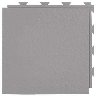 Hiddenlock Slate Top Gray 12 in. x 12 in. x 1/4 in. PVC Plastic Interlocking Basement Floor Tile (Case of 20)