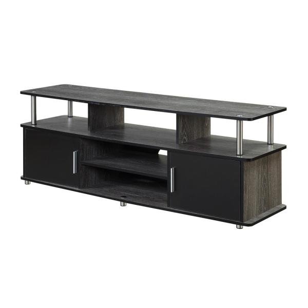 Designs2Go Monterey Weathered Gray and Black 60 in. TV Stand