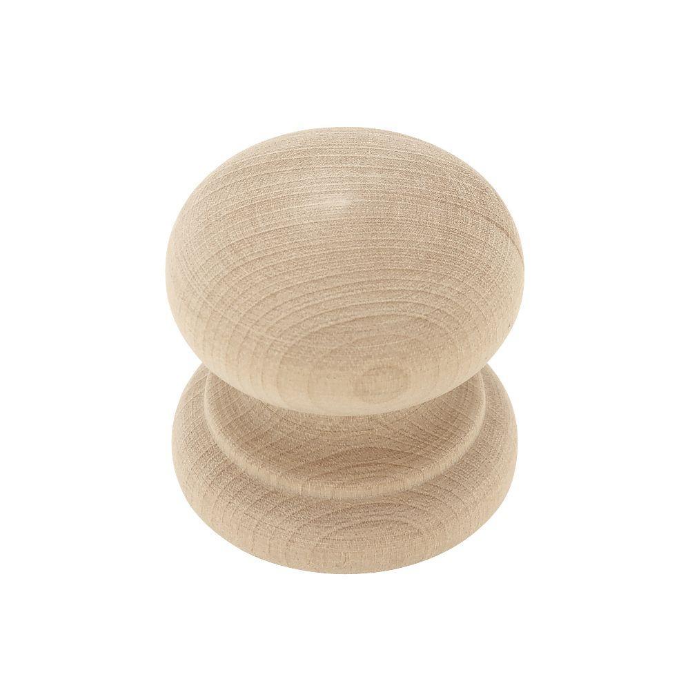 Belgrave 1-3/4 in. (45mm) Birch Wood Round Cabinet Knob