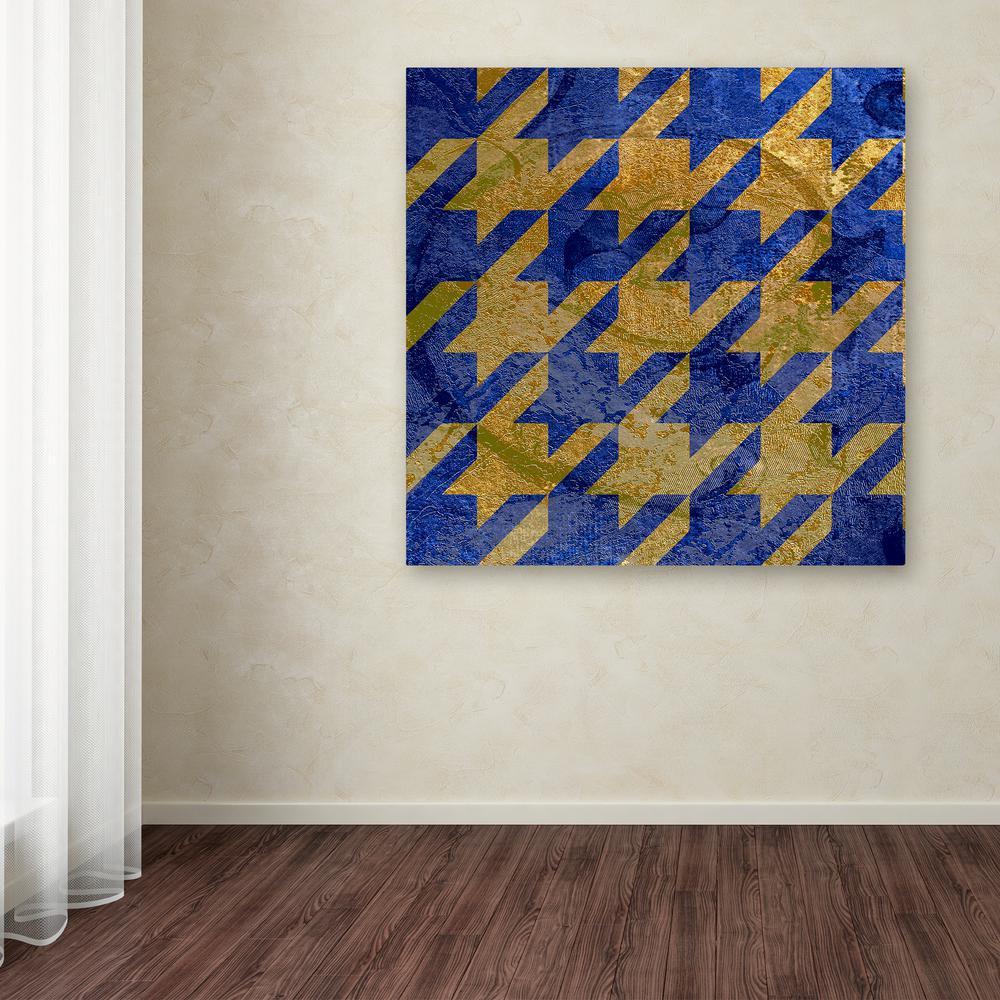 Trademark Fine Art 14 in. x 14 in. ''Houndstooth III'' by