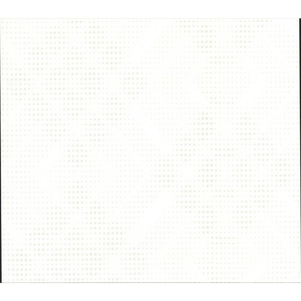 Advantage Parks White Speckled Geometric Wallpaper Sample 2814-609615SAM