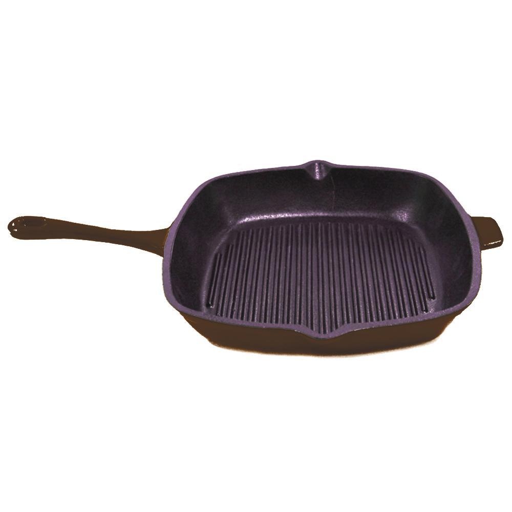 Neo 11 in. Cast Iron Square Copper Grill Pan