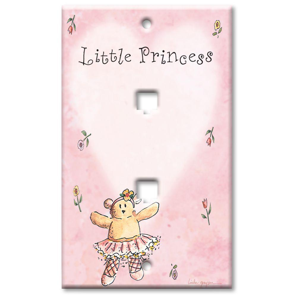 Art Plates Little Princess 2 Cat5 Wall Plate