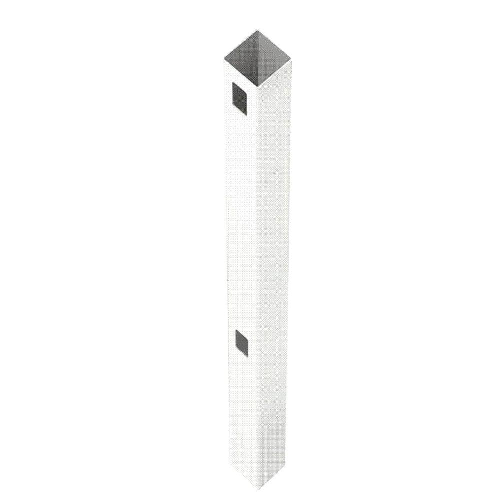 Veranda Pro Series 5 in. x 5 in. x 8 ft. White Woodbridge Routed End Fence Post