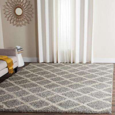 Dallas Shag Gray/Ivory 8 ft. 6 in. x 12 ft. Area Rug