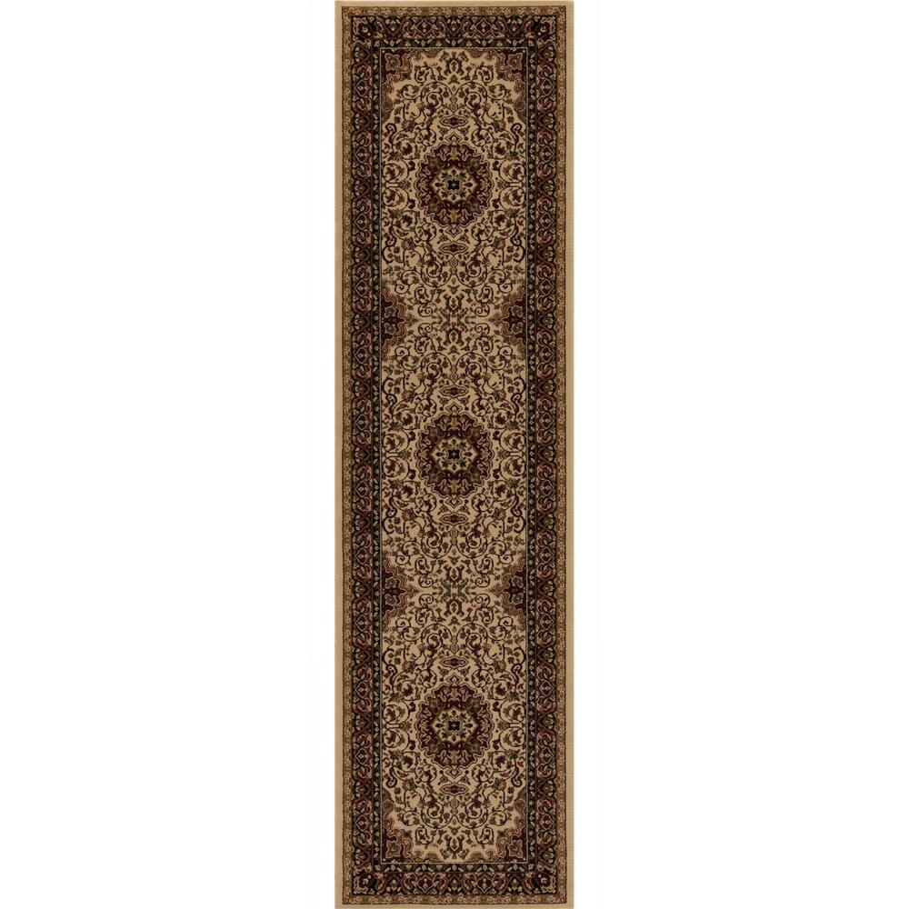 Persian Classics Isfahan Ivory 2 ft. x 7 ft. 7 in. Runner