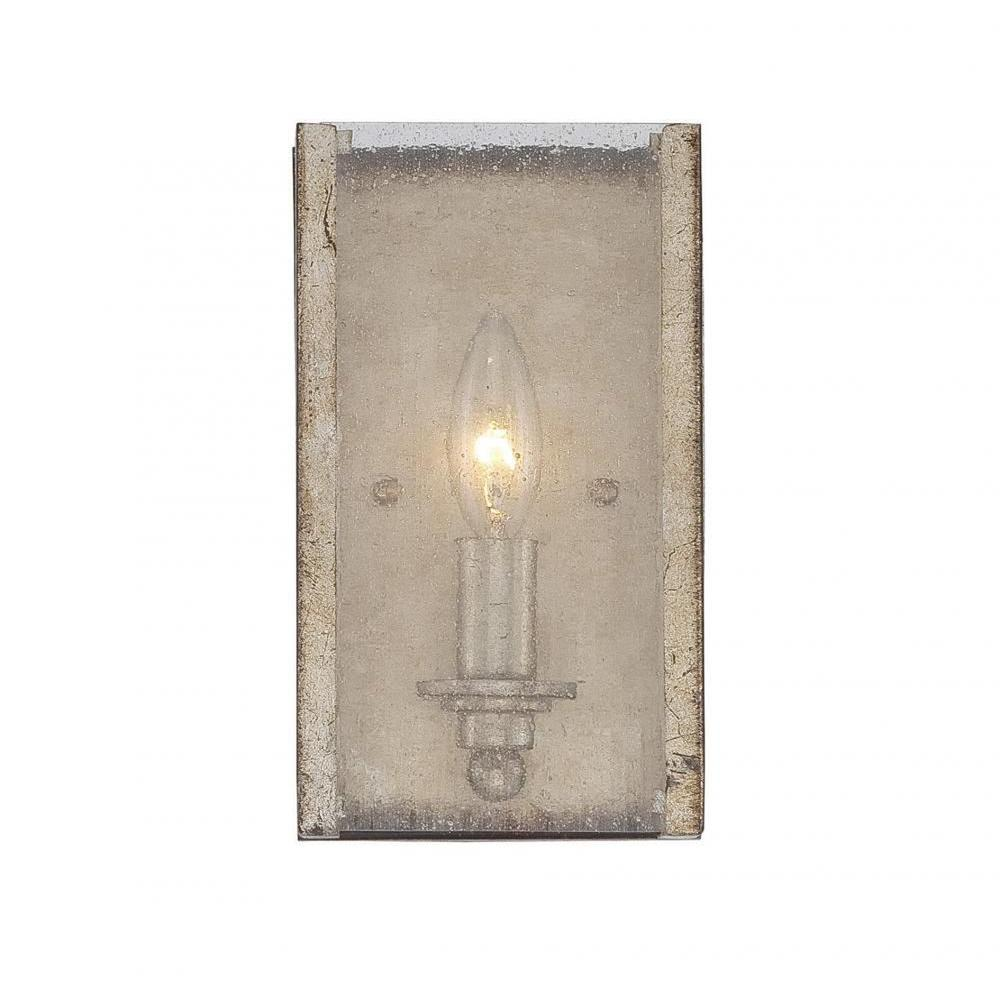 Filament Design Dannelly Oxidized Silver Wall Sconce