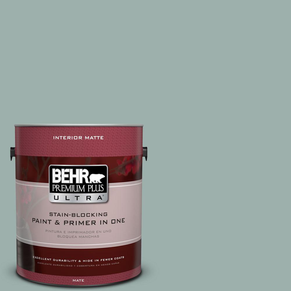 BEHR Premium Plus Ultra 1 gal. #490F-4 Gray Morning Flat/Matte Interior Paint