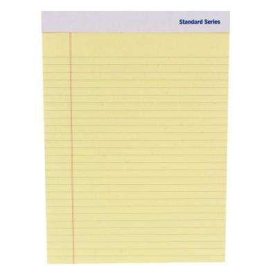 5 in. x 8 in. Perforated Writing Pad, Yellow (3-Pack)