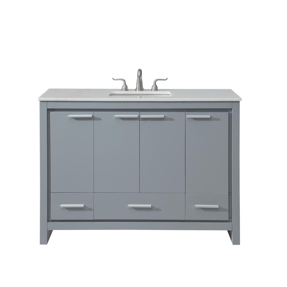 Goodrich 48 in. Single Bath Vanity w/ 3 Drawers 1 Shelf 4 Doors ...