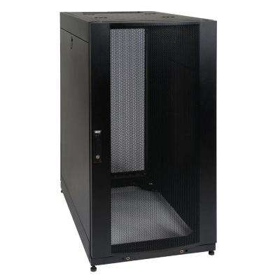 25U Rack Enclosure Server Cabinet Doors and Sides 3000 lb. Capacity