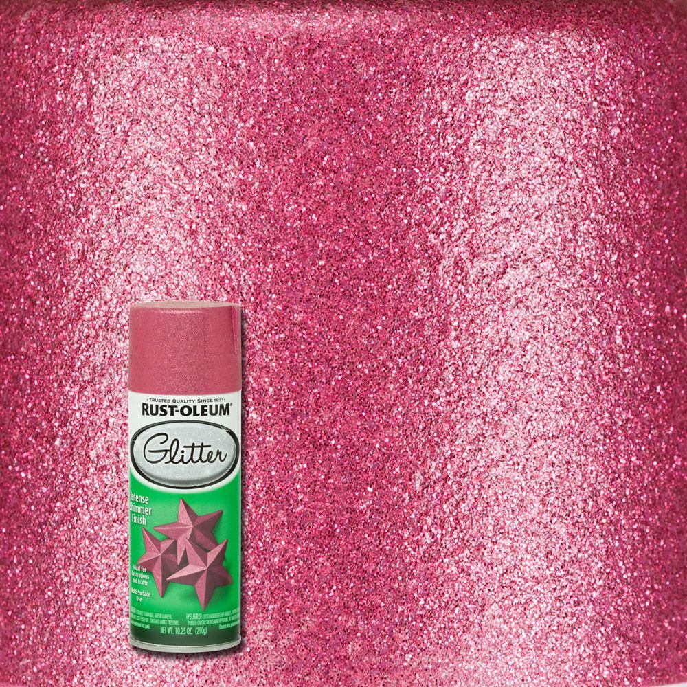 Bright Pink Glitter Spray Paint 276287 The Home Depot