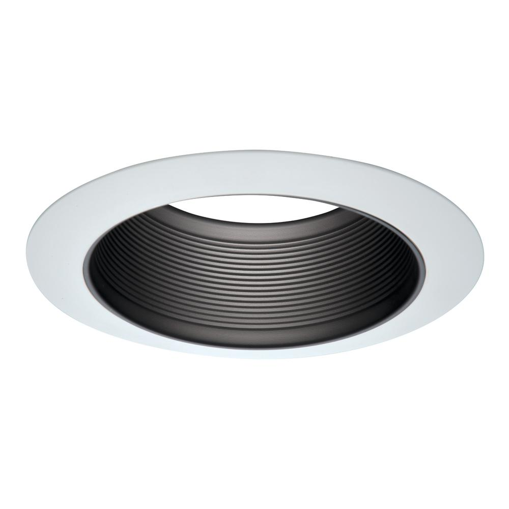 Halo e26 series 6 in white recessed ceiling light tapered baffle white recessed ceiling light tapered baffle with white trim ring aloadofball Choice Image