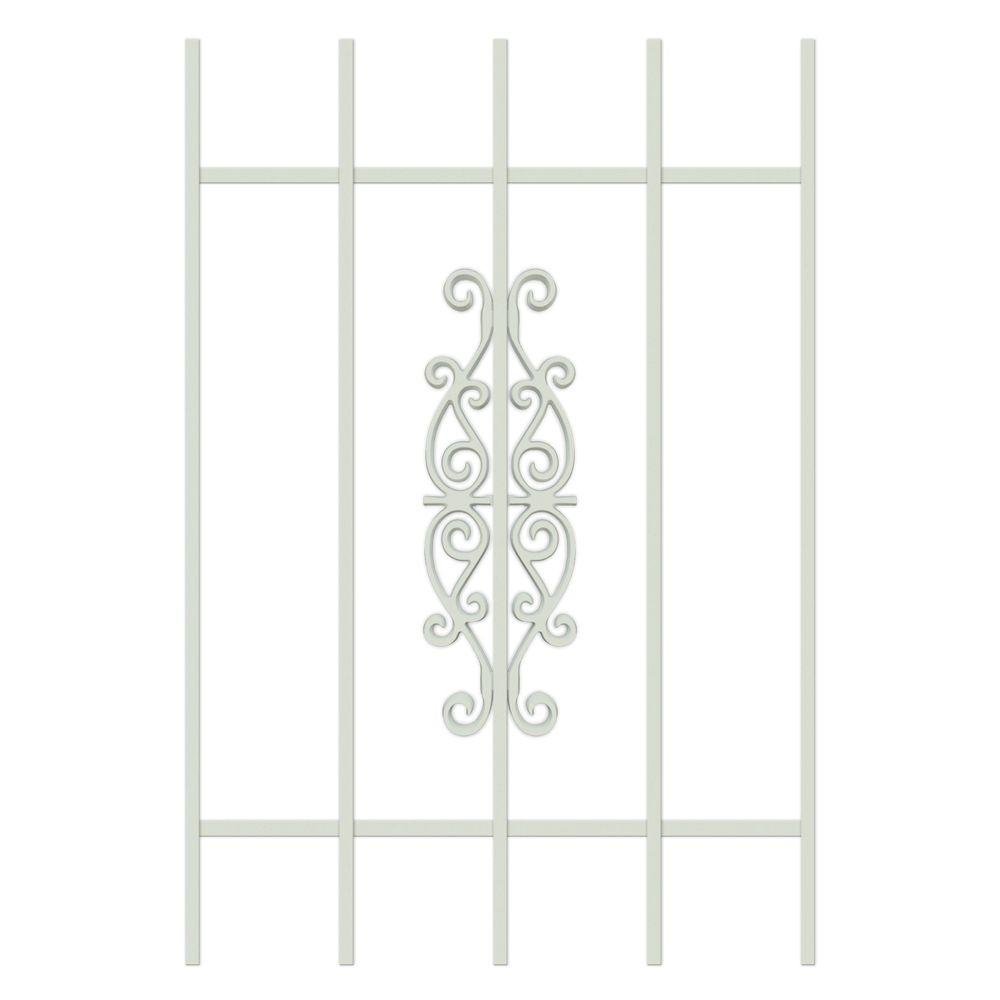 Unique Home Designs Victorian Scrolls 24 in. x 36 in. Almond 5-Bar Window Guard-DISCONTINUED