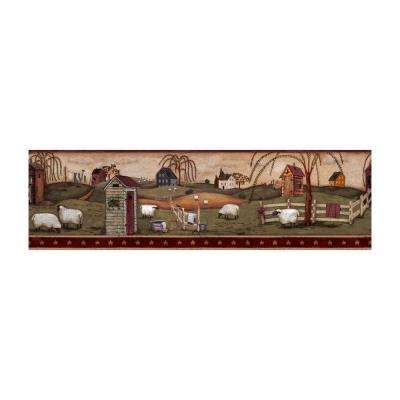 Best of Country Country Bath Wallpaper Border