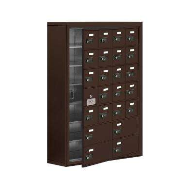 19100 Series 30.5 in. W x 42 in. H x 9.25 in. D 23 Doors Cell Phone Locker Surface Mount Resettable Lock in Bronze