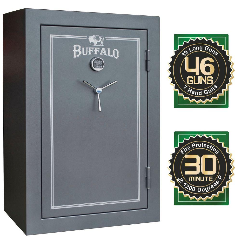 46-Gun 23 cu. ft. Electric Lock Fire Resistant Gun Safe with