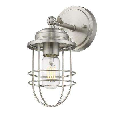 Seaport Collection 1-Light Pewter Sconce Bath Vanity Light
