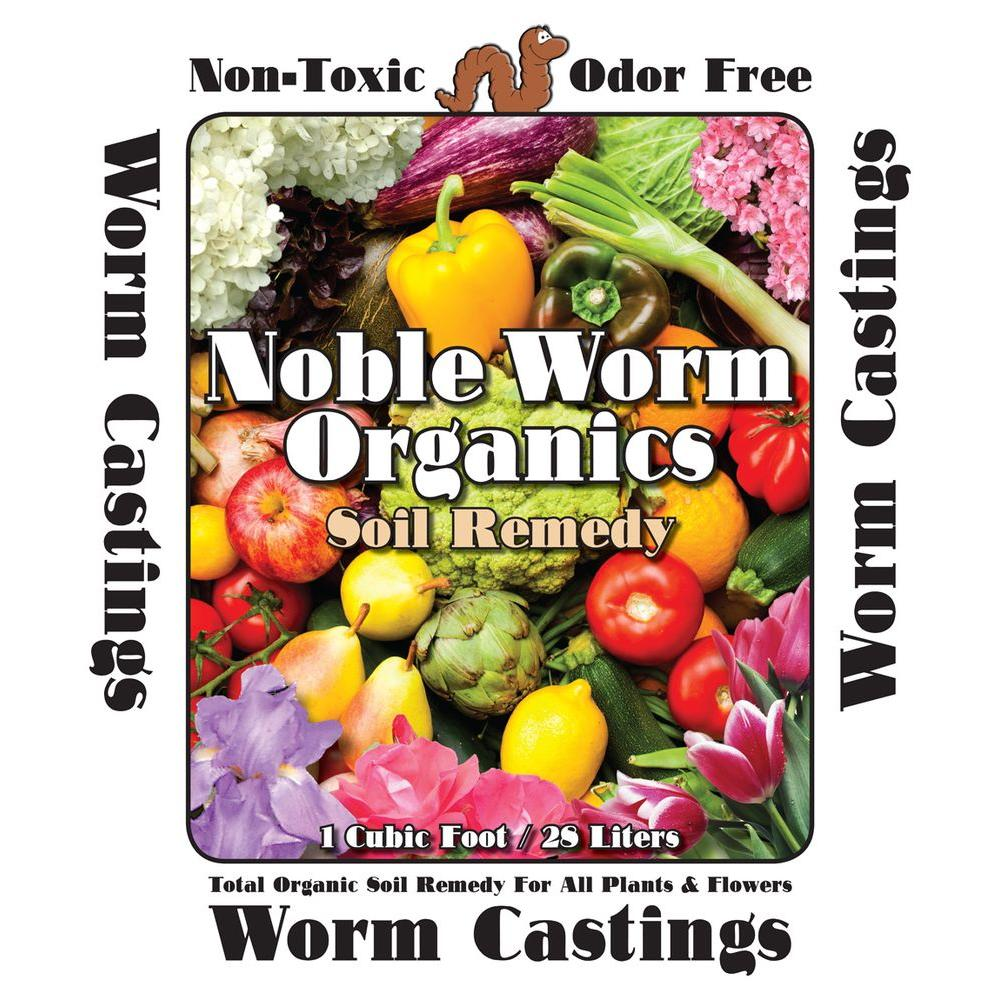 Noble Worm Organics 1 cu. ft. / 25 lb. Organic Worm Casting Soil