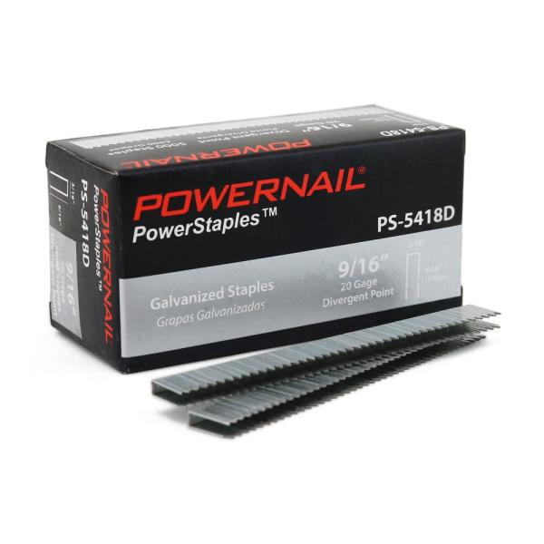 5400 Series 3/16 in. x 9/16 in. Crown x 20-Gauge Glue Collated Div. Point Staples for Carpet and Upholstery (5000-Box)