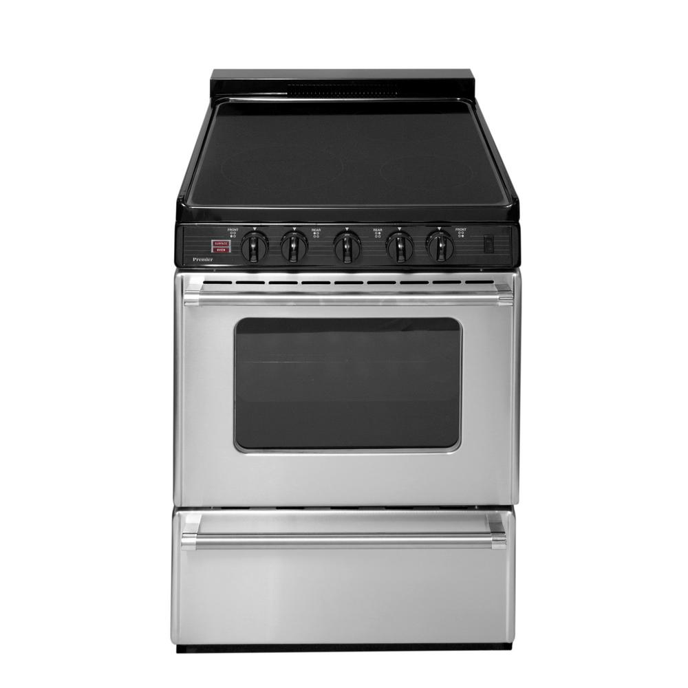 Freestanding Smooth Top Electric Range In Stainless Steel