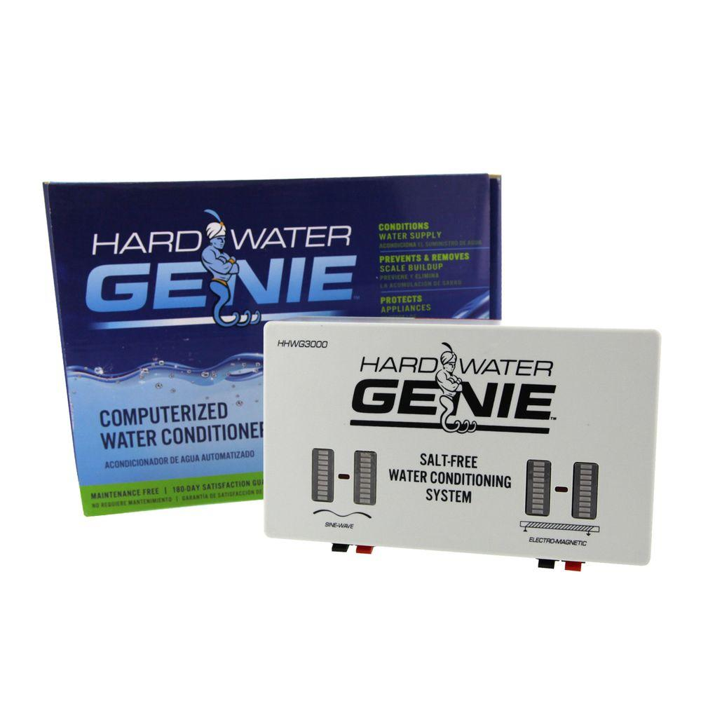 Electronic Water Treatment Product : Hard water genie no salt treatment conditioner softener
