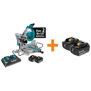 Makita 18V X2 LXT Lithium-Ion(36V) Brushless Cordless 10in. Dual-Bevel Sliding Compound MiterSaw, Laser... by Makita