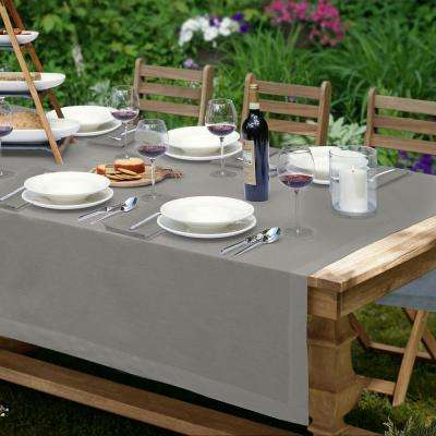La Classica 70 in. x 70 in. Square Fabric Tablecloth in Gray