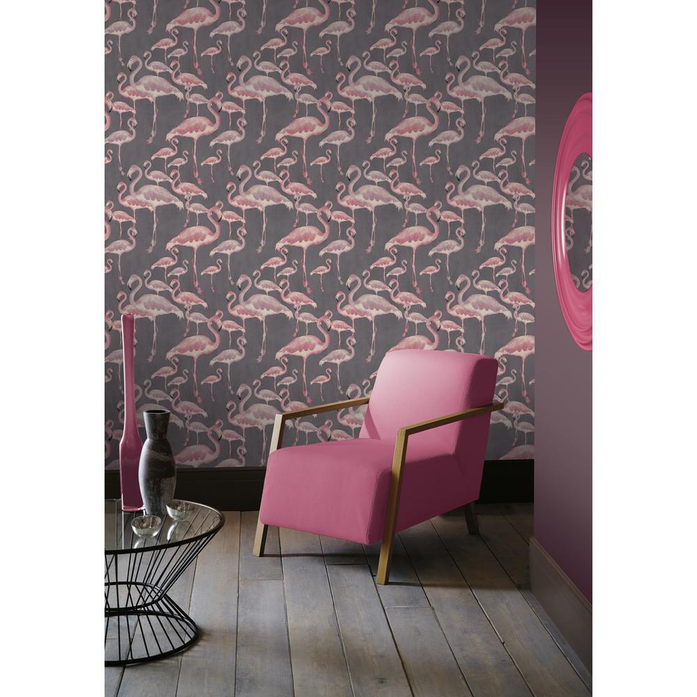 Arthouse Flamingo Beach Marshmallow Unpasted Wallpaper