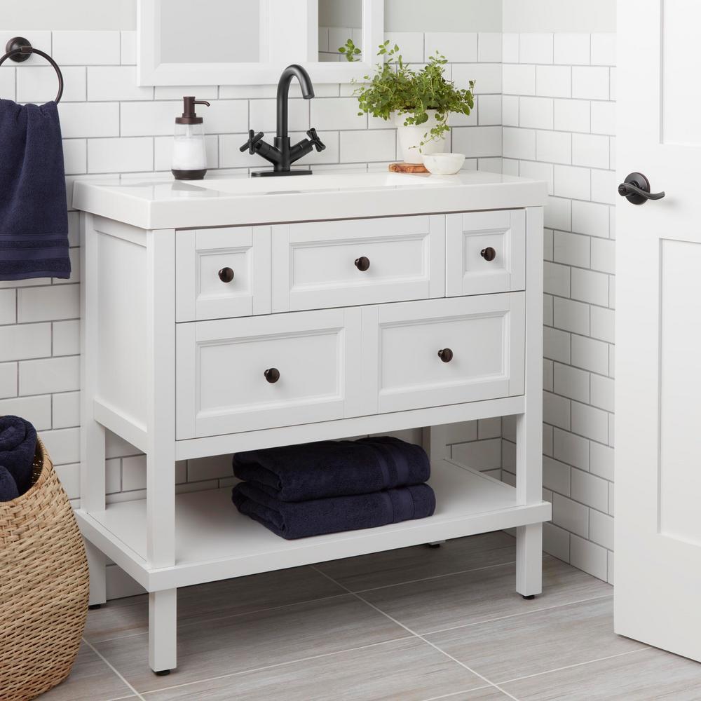 Dorset Cross Single-Hole 2-Handle Bathroom Faucet in Matte Black