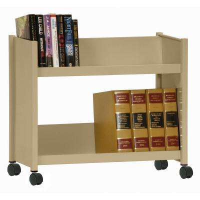 2-Sloped Shelf Welded Booktruck in Tropic Sand