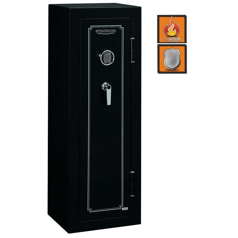Stack On 8 Gun Electronic Lock Matte Black Fs 8 Mb E The Home Depot