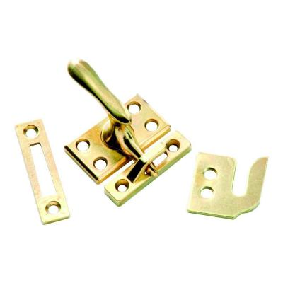 Polished Brass Window Sash Lock with Casement Fastener