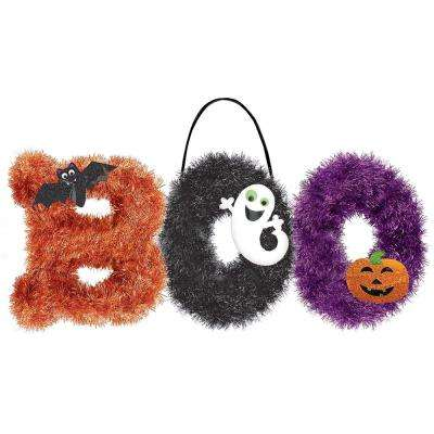 10.5 in. x 18 in. Boo Tinsel Decoration (2-Pack)