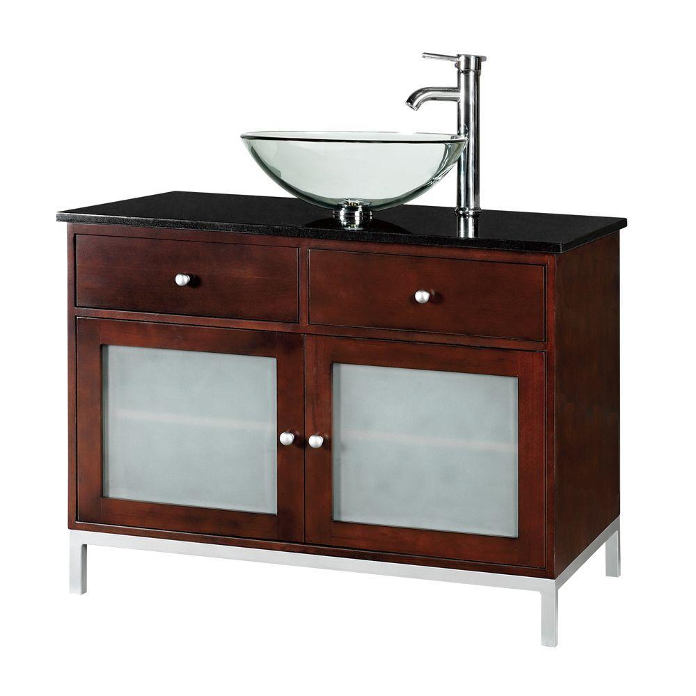 Home Decorators Collection Amanda 36 in. W Single Vanity Top in Dark Brown