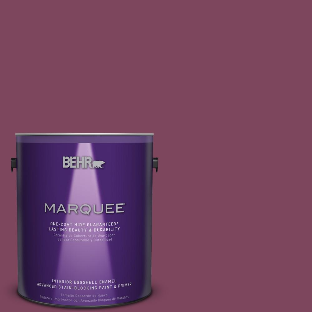 1 gal. #T17-14 Artful Magenta Eggshell Enamel Interior Paint