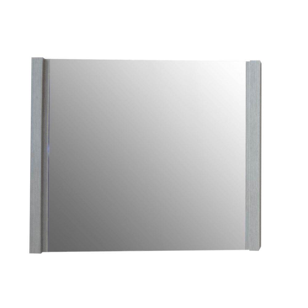30 in. x 25.5 in. Single Framed Wall Mirror in Gray Pine
