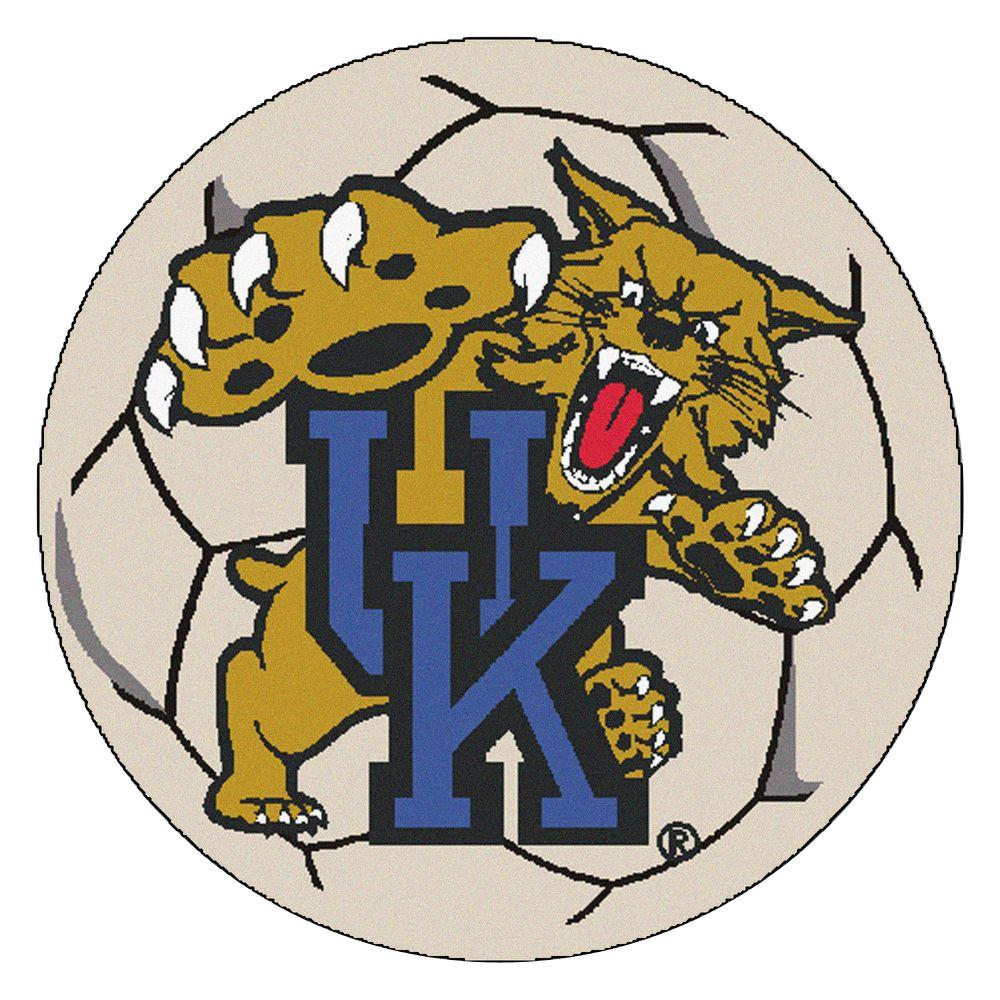 Ncaa University of Kentucky Cream (Ivory) 2 ft. 3 in. x 2 ft. 3 in. Round Accent Rug