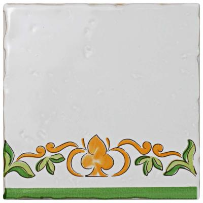 Novecento Tira Paterna 5 in. x 5 in. Ceramic Wall Tile (5.87 sq. ft. / Case)