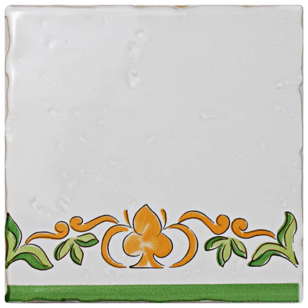Novecento Tira Paterna 5-1/8 in. x 5-1/8 in. Ceramic Wall Tile
