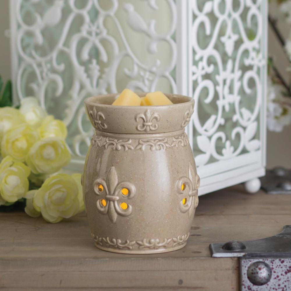 7.3 in Fleur de Lis 2-in-1 Flickering Fragrance Warmer