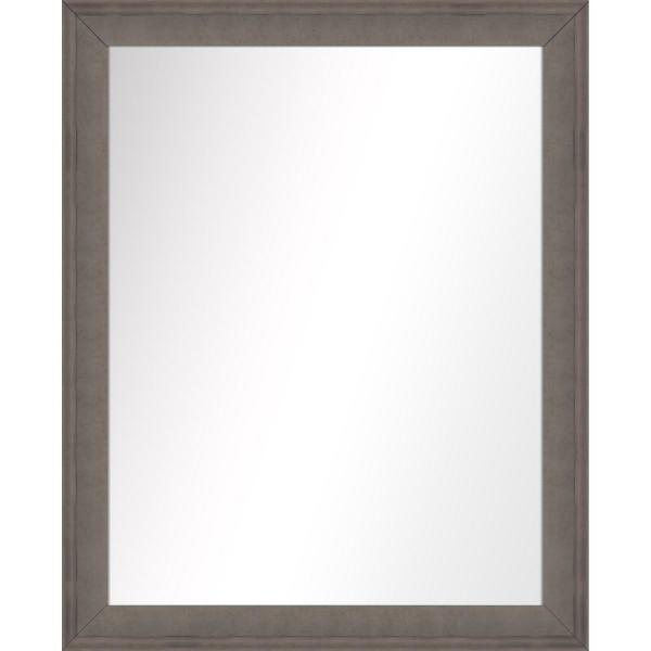 Medium Rectangle Champagne Art Deco Mirror (31.75 in. H x 25.75 in. W)
