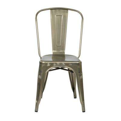 Bristow Gunmetal Armless Metal Chair (2-Pack)